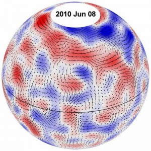 Giant Convection Cells Observed Within Sun