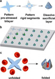 Self-folding Gripper for Capturing Single Cells: Wafer Fabricated for Cellular Analysis