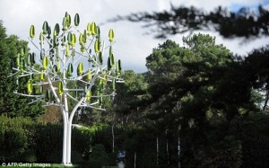 Electricity producing Trees: Plastic Leaves to Create Power