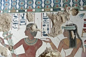 10 Photographs depicting Egyptian Tombs with colorful murals unseen for thousands of years