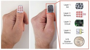 Fingernail sized NailO controls Phone and Laptop: Wearable Technology