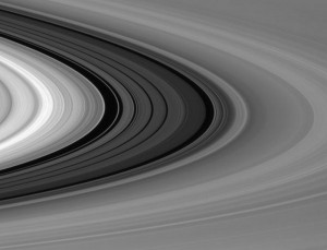 Saturn's Rings Bending at the Limb: Image captured by Cassini Spacecraft